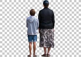家庭卡通,男性,短裤,牛仔裤,T恤,套筒,外衣,肩部,站立,家庭,照片