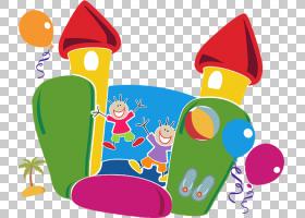 家庭卡通,儿童艺术,播放,线路,面积,党,家庭,孩子,跳跃城堡开普敦