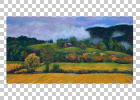 家庭卡通,土地地段,草,生态系统,平淡,印象派,山地站,草族,山,野图片