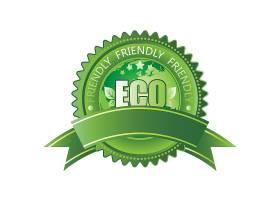 清新环保概念主题标签LOGO设计