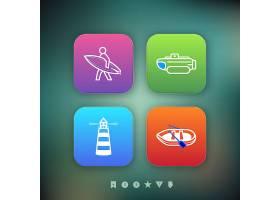个性时尚简洁灯塔帆船类通用LOGO设计