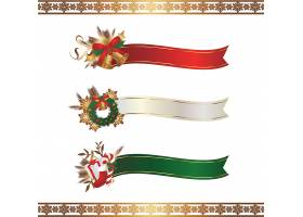 圣诞节主题彩带缎带促销标签设计