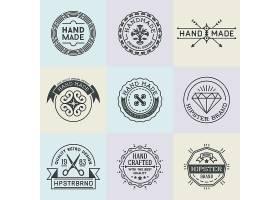 时尚简洁的英文线条图标LOGO俱乐部徽章标签设计