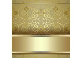 金色大气欧式奢华底纹花纹边框矢量素材