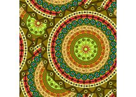 圆形装饰花边矢量图案