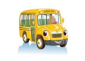 高清校车幼儿园车素材图片