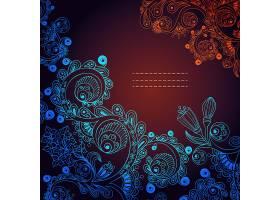 深色大气欧式奢华底纹花纹边框矢量素材