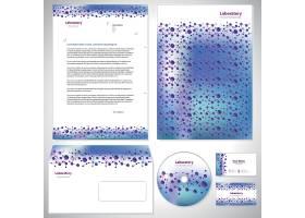 细胞分子与大健康主题信封信件名片整套设计