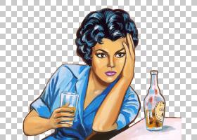 女发,肖像,染发,发型,女人,女性,漫画,美国漫画书,卡通,酒吧,绘图