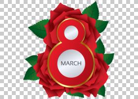 妇女节海报,红色,字体,圆,花瓣,花,圣诞装饰品,海报,贺卡,女人,绘