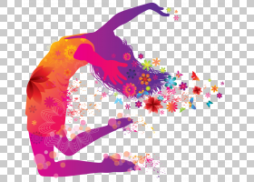 国际舞蹈日,洋红色,紫罗兰,紫色,粉红色,剪影,3月8日,舞蹈,女人,图片