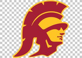 美国足球背景,徽标,黄色,头盔,符号,USC特洛伊木马,少年校队,太平