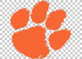 美国足球背景,线路,圆,橙色,符号,点,心,克莱姆森老虎队,克莱姆森