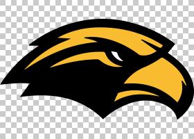 美国足球背景,黑白,徽标,猛禽,鸟,黄色,面部毛发,喙,符号,南方金