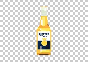啤酒卡通,黄色,利口酒,玻璃瓶,液体,麦芽,啤酒花,啤酒厂,饮料罐,