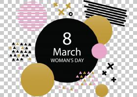 三月八日妇女节,圆,徽标,黄色,文本,紫色,3月8日,光栅图形,女人,图片
