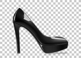 女卡通,设计,基本泵,鞋类,黑色,黑白,克里斯蒂安・鲁布托,女人,迪