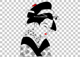日本背景,黑白,头盔,职业,日本艺术,女人,艺妓,绘图,日本,
