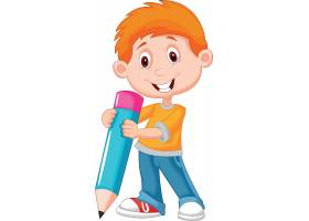 卡通小男孩形象主题时尚矢量素材装饰素材