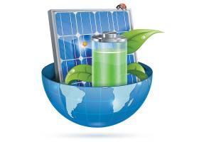 太阳能节能环保主题时尚矢量素材装饰素材