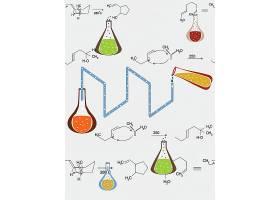 化学研究主题时尚矢量素材装饰素材