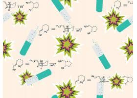 化学分子式主题时尚矢量素材装饰素材