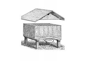 木箱养蜂箱主题矢量装饰素材
