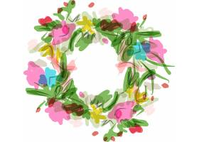 涂鸦风植物花卉主题矢量装饰素材