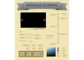 复古单色数据信息图表展示素材