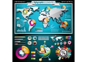 全球立体数据化信息图表展示
