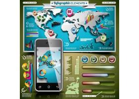 立体化全球信息数据图表展示