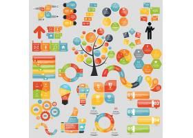 用丰富多彩的细节信息图表元素的集合