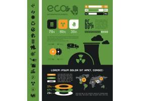 环境污染与环保概念信息图表商务矢量素材