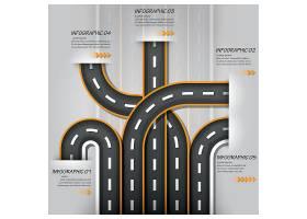 公路主题数据信息图表设计元素