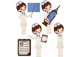 卡通美女护士设计