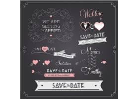 创意素雅简洁婚礼邀请函个性英文标签设计图片
