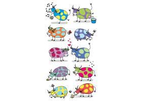 牛儿童卡通动物形象