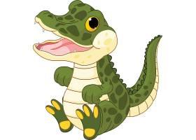 鳄鱼儿童卡通动物形象