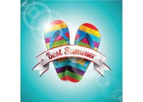 夏日彩色拖鞋