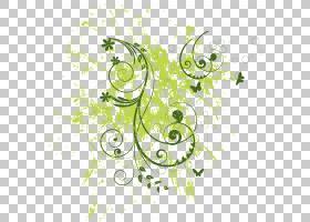 垃圾抽象背景,绘图,草,绿色,水果,花卉,树,植物群,视觉艺术,线路,