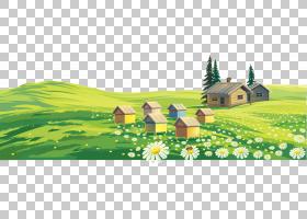家谱背景,绘画,草,草原,树,生态系统,自然,草族,山,场,天空,花,生图片