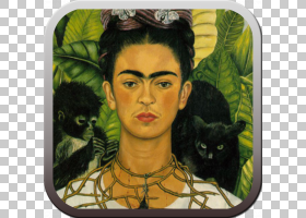 弗里达・卡罗,现代艺术,自画像,猫,脸,弗里达・卡罗,女艺术家,墨