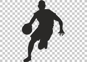 篮球卡通,男人,黑白,手臂,鞋,男性,线路,体育器材,鞋类,黑色,关节