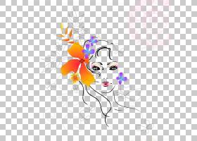 花卉背景,鼻子,脸,植物群,视觉艺术,花卉设计,线路,美,女人,头部,