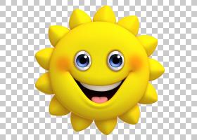 花画,微笑,笑脸,花,表情,黄色,绘画,肖像,卡通,漫画,灯台,三维空图片