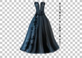 鸡尾酒卡通,黑色,肩部,PROM,小黑裙,薄纱,舞会礼服,服装,时尚,正