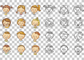 表情图释线路,白色,线路,材质,表情,圆,微笑,面部表情,人,黄色,头