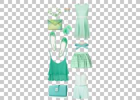 绿色背景,鸡尾酒礼服,白色,时装设计,水,日装,褶边,长袍,肩部,免图片