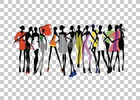 女卡通,友谊,组织,有趣,团队,项目天桥,时装设计,女人,时尚模特,图片