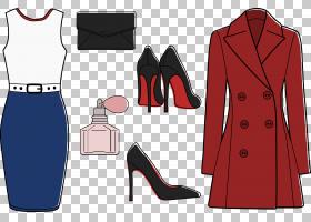 牛仔裤卡通,正式着装,红色,战壕外衣,黑色,时装设计,统一,外套,套图片